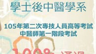 【恭賀】 105年第二次專技人員高等考試-中醫師第一階段考試 […]